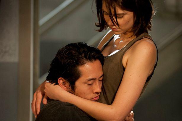 Glenn-Steven-Yeun-and-Maggie-Greene-Lauren-Cohan